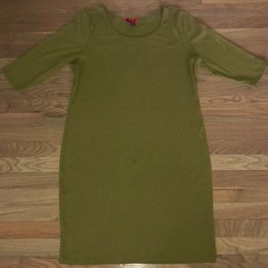Plus Size Olive Green Ribbed Tunic Dress 3X